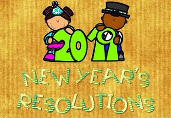 New Year's Resolutions 2019 foldables + writing act+ scavenger hunt + Banner