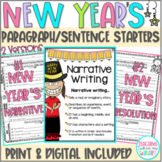 New Year's Resolutions 2021 Paragraph Sentence Starters Google Slides