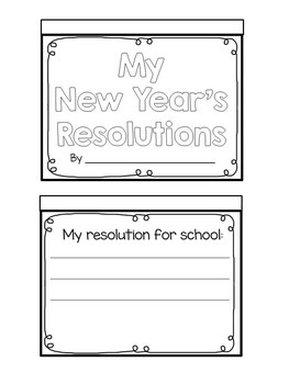 New Years 2020 Activities - New Years Resolutions or Goal Setting