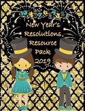 New Year's 2018 Resolutions Activities Passage & Questions Writing Foldable ++