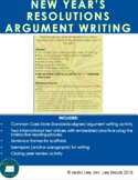 New Year's Resolutions Argument Writing Activity