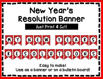 New Year's Resolutions Banner - New Year Bulletin Board