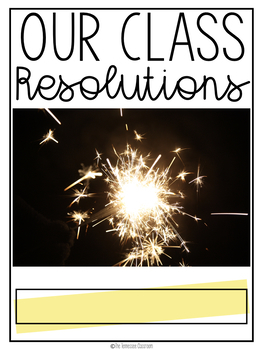 New Year's 2018 Resolutions: Class Book