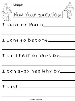 New Year's Resolutions-Class Book