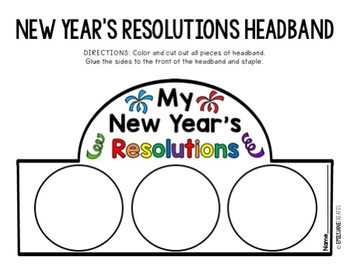 New Year's Resolutions Headband b/w and color