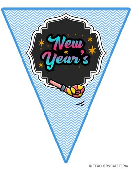 2020-New Year's Resolutions Pennant Banners