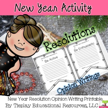 New Year's Resolutions Pennant Writings