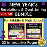 New Year's Resolutions Reflections Goal Setting Bundle Mid