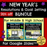 New Year's Resolutions Reflections Goal Setting Bundle for