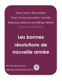 New Year's Resolutions - French speaking activity - Survey