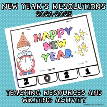 New Year's Resolutions 2018 Teaching Resources Tab Book for Writing
