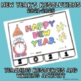 New Year's Resolutions 2019 Teaching Resources Tab Book for Writing