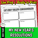 New Year's Resolutions Printable Activity Page
