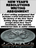 FREE New Year's Resolutions Writing Assignment