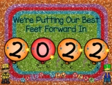New Year's Resolutions Writing/Drawing Activity Best Foot Forward Theme