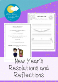 New Year's Resolutions and Colouring Page