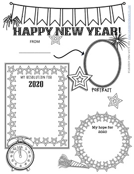 New Year's Resolutions 2018 for Growth Mindset with Arts Integration