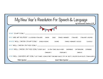 New Year's Resolutions for Speech and Language Kids {Kiddo Contracts}