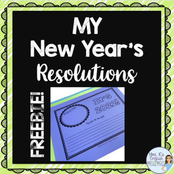 New Year's Resolutions writing activities for 2018