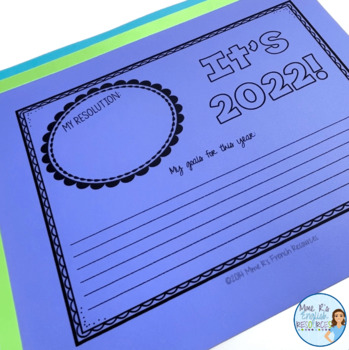 New Year's Resolutions writing activities for 2019