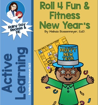 New Year's Roll 4 Fun & Fitness Board Game