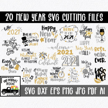new years svg cut file bundle 20 christmas images clip art more