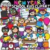 New Year's School Kids Clipart {New Years Clipart}