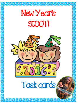 New Year's Scoot! 20 Different Task Cards!