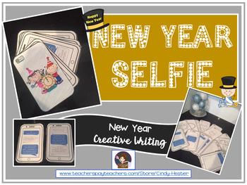 New Year's Selfie & Resolution Creative Writing Activity