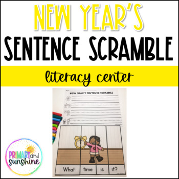 New Year's Sentence Scramble
