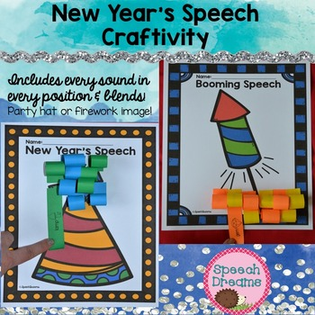 New Year's Speech Therapy Crafts
