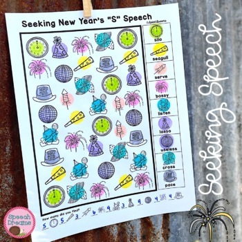 New Year's Speech Therapy Seeking Activity {articulation}
