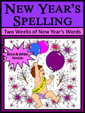 New Year's Language Arts Activities: New Year's Spelling Activity Packet