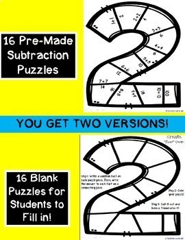 New Year's 2018 Subtraction Puzzles