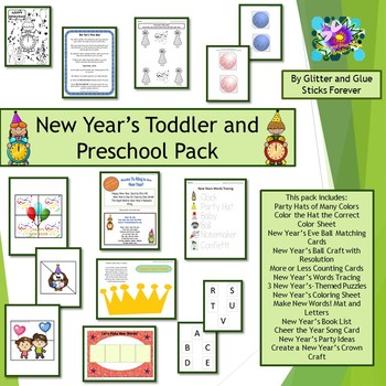 New Year's Toddler and Preschool Pack