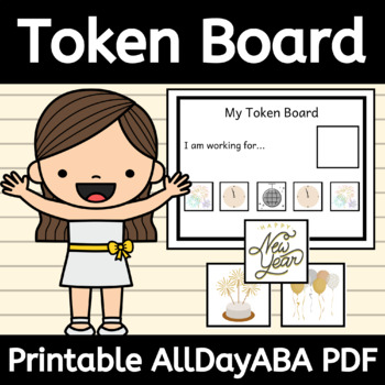 New Year's Token Board and Tokens - ABA Therapy, Behavior Management - AllDayABA