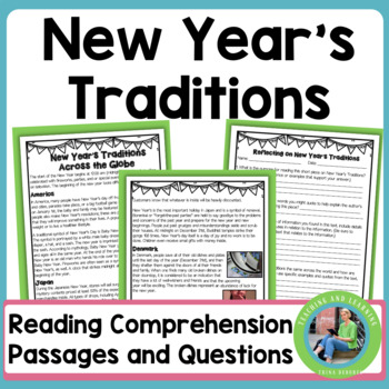 New Year's Traditions Across the Globe {Informational Text Close Read}