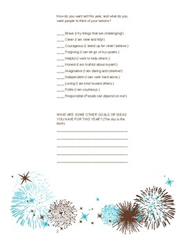 New Year's Values and Intentions