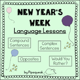 2018 New Year's Week: Speech Therapy Language Worksheets