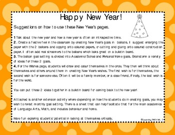 New Year's Wishes and Goals