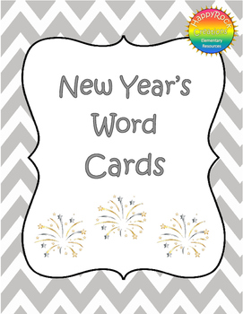 New Year's Word Cards