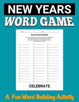 New Year's Word Challenge