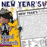 New Year's Word Search Activity
