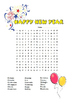 New Year's Word Search (Include Chinese New Year Version)