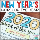 New Year's One Word of the Year 2021 Resolutions Print & Digital