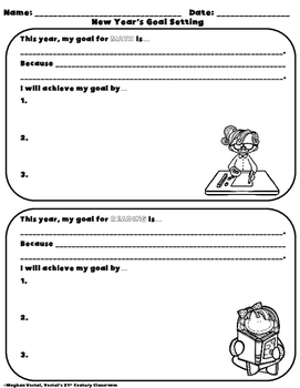 New Year's Worksheets & Morning Work
