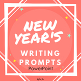 New Year's Writing Journal Prompts PowerPoint