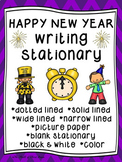 New Year's Writing Paper--New Year's Writing Stationary--DIFFERENTIATED