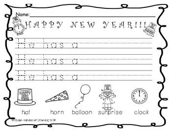 Writing-New Year's Sentence Starters