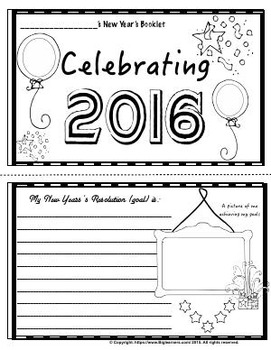 New Year 2016 - Writing and Activity Pack